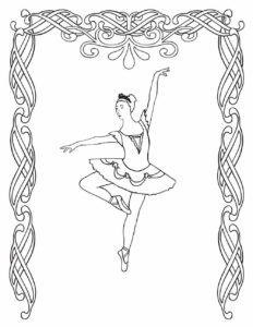 Ballerina Coloring Images