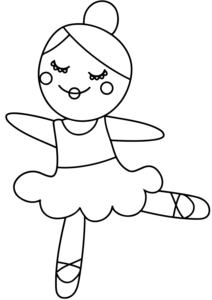 Ballerina Coloring Pages For Children