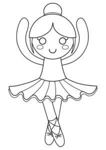 Ballerina Coloring Pages For Preschoolers