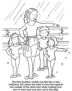 Ballerina Positions Coloring Pages