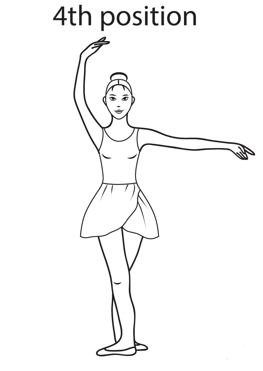Ballet 4th Position Coloring Page