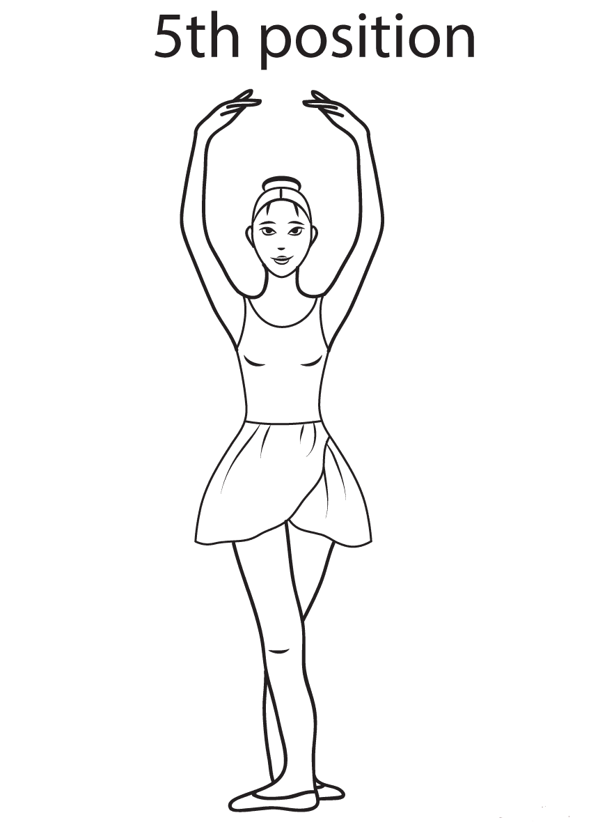 Ballet 5th Position Coloring Page