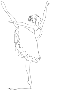 Ballet Position Coloring Pages