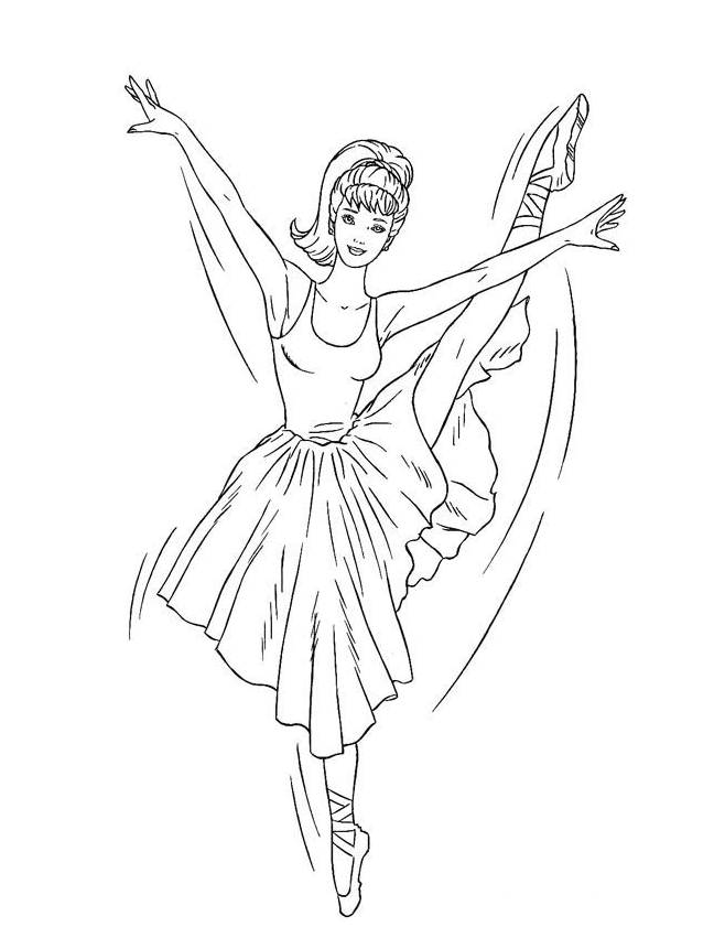 Barbie Ballerina Coloring Pages