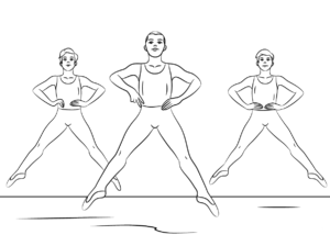 Boy Ballet Coloring Pages