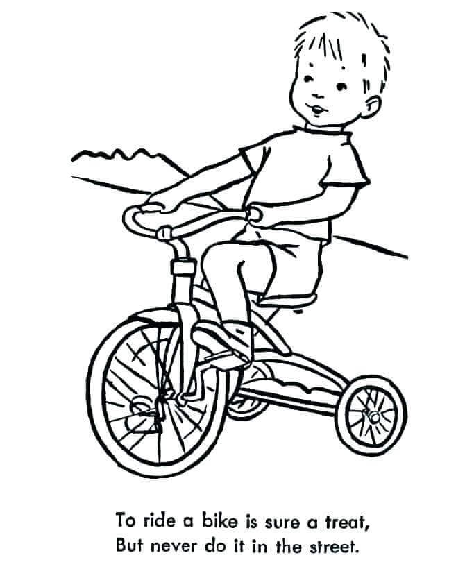 Boy On Dirt Bike Coloring Pages