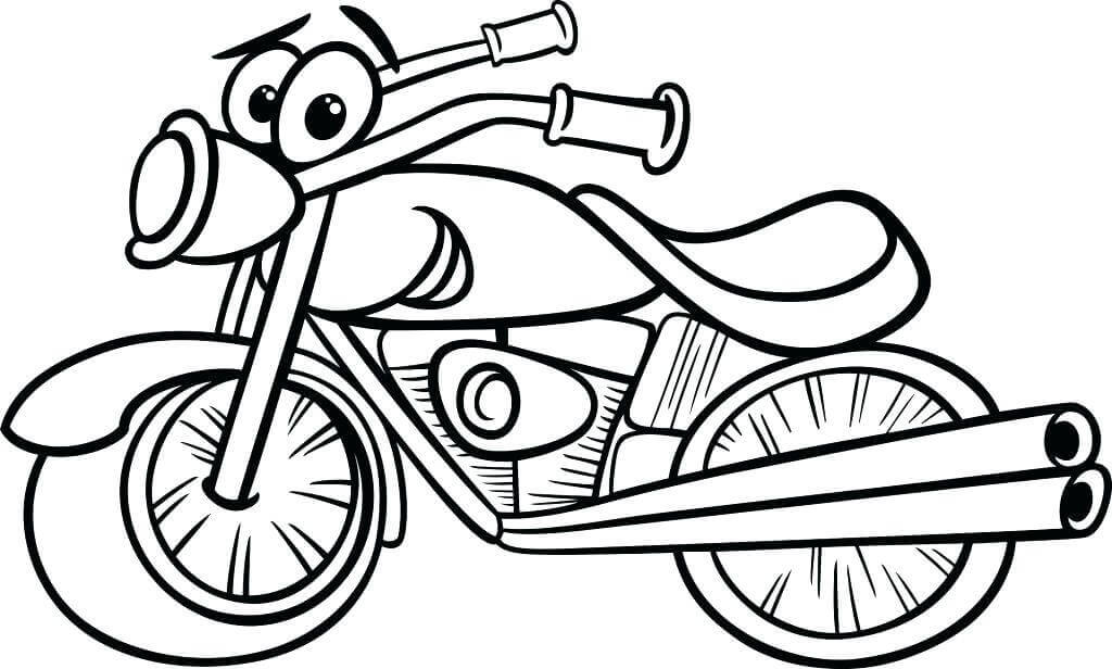 Cartoon Dirt Bike Coloring Pages