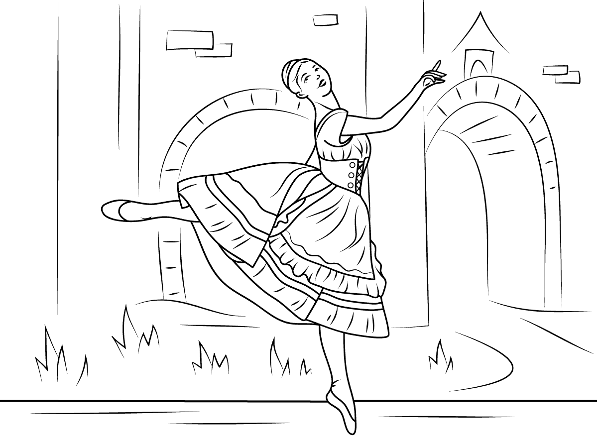 Coppelia Ballet Coloring Pages