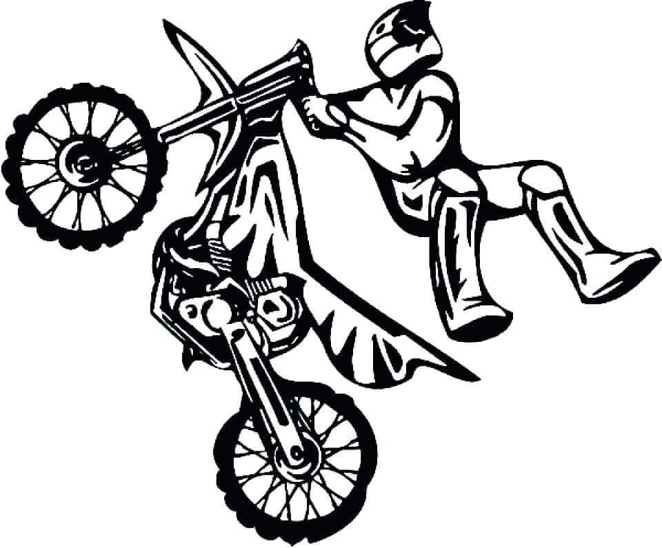 Dirt Bike Coloring Images