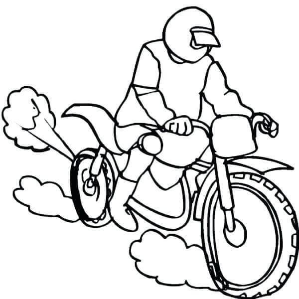 Dirt Bike Coloring Pages For Kids