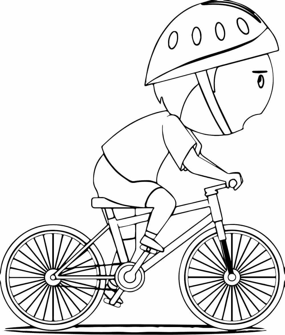 Dirt Bike Helmet Coloring Pages