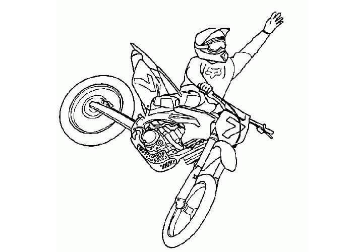 Dirt Bike Race Coloring Pages