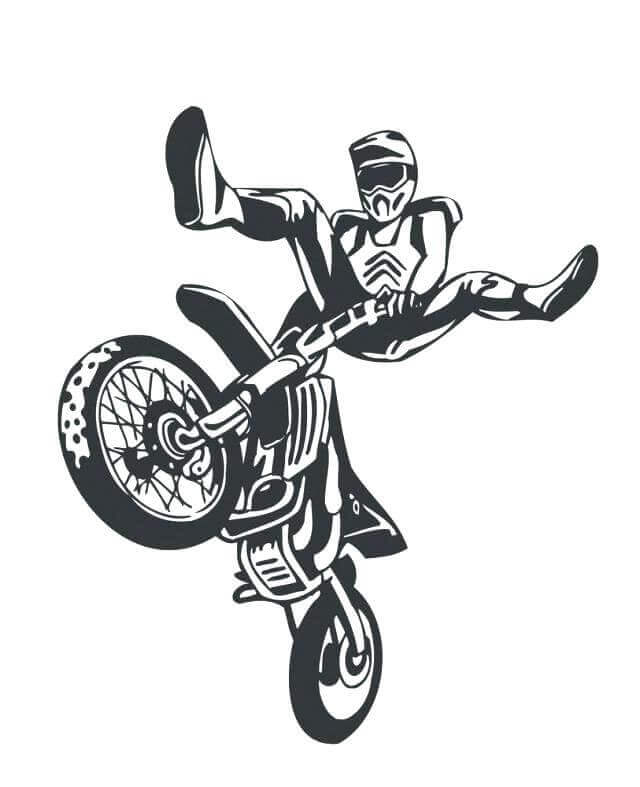 Free Printable Dirt Bike Coloring Pages Coloring Junction