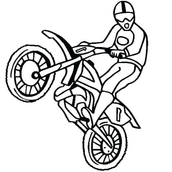 Free Printable Dirt Bike Coloring Pages - Coloring Junction