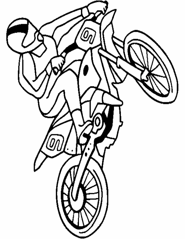 Free Printable Dirt Bike Coloring Sheets