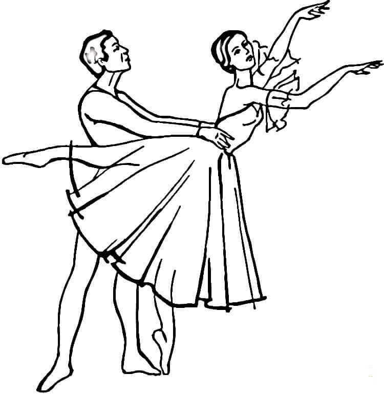 Giselle Ballerina Coloring Pages
