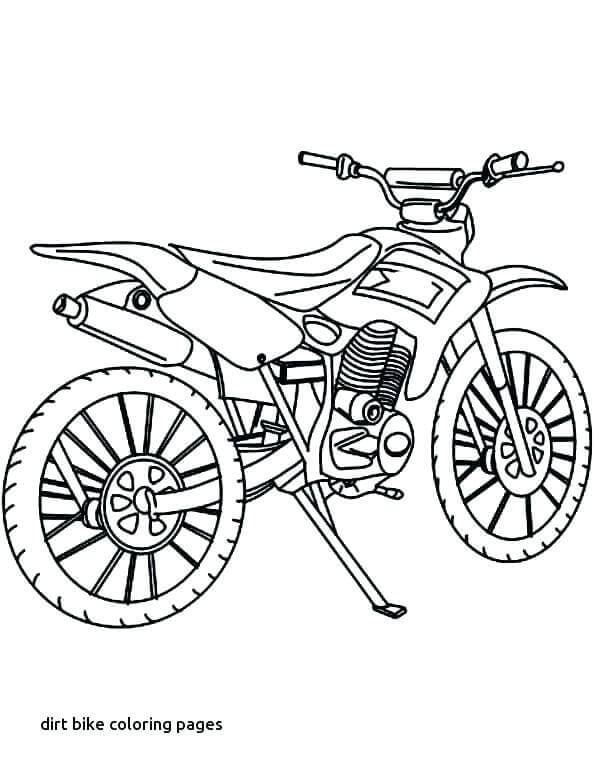 Honda Dirt Bike Coloring Pages