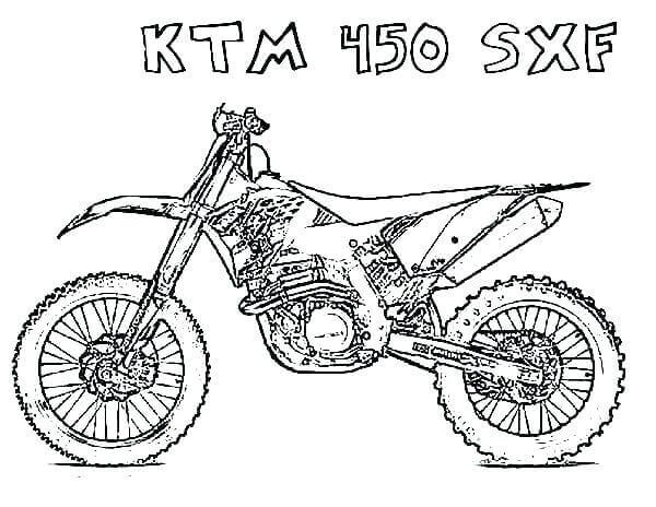 KTM Dirt Bike Coloring Pages Printable