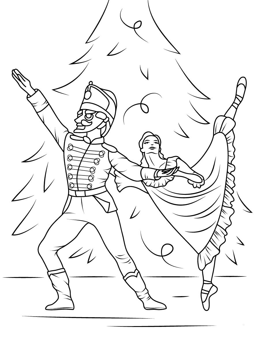 Nutcracker And Ballet Coloring Pages