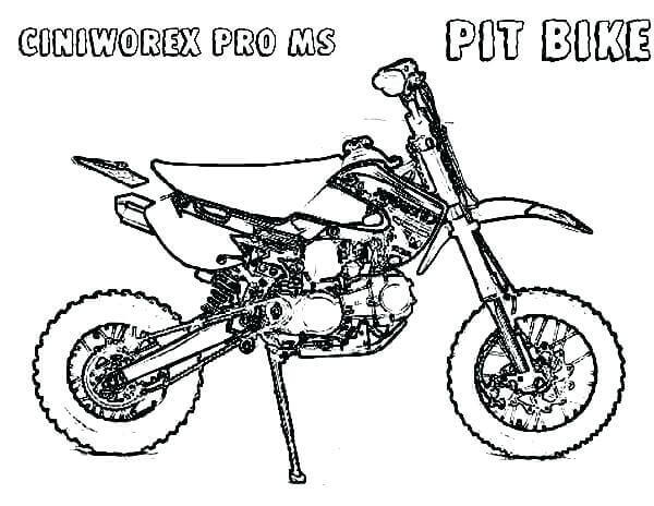 Pit Bike Coloring Pages