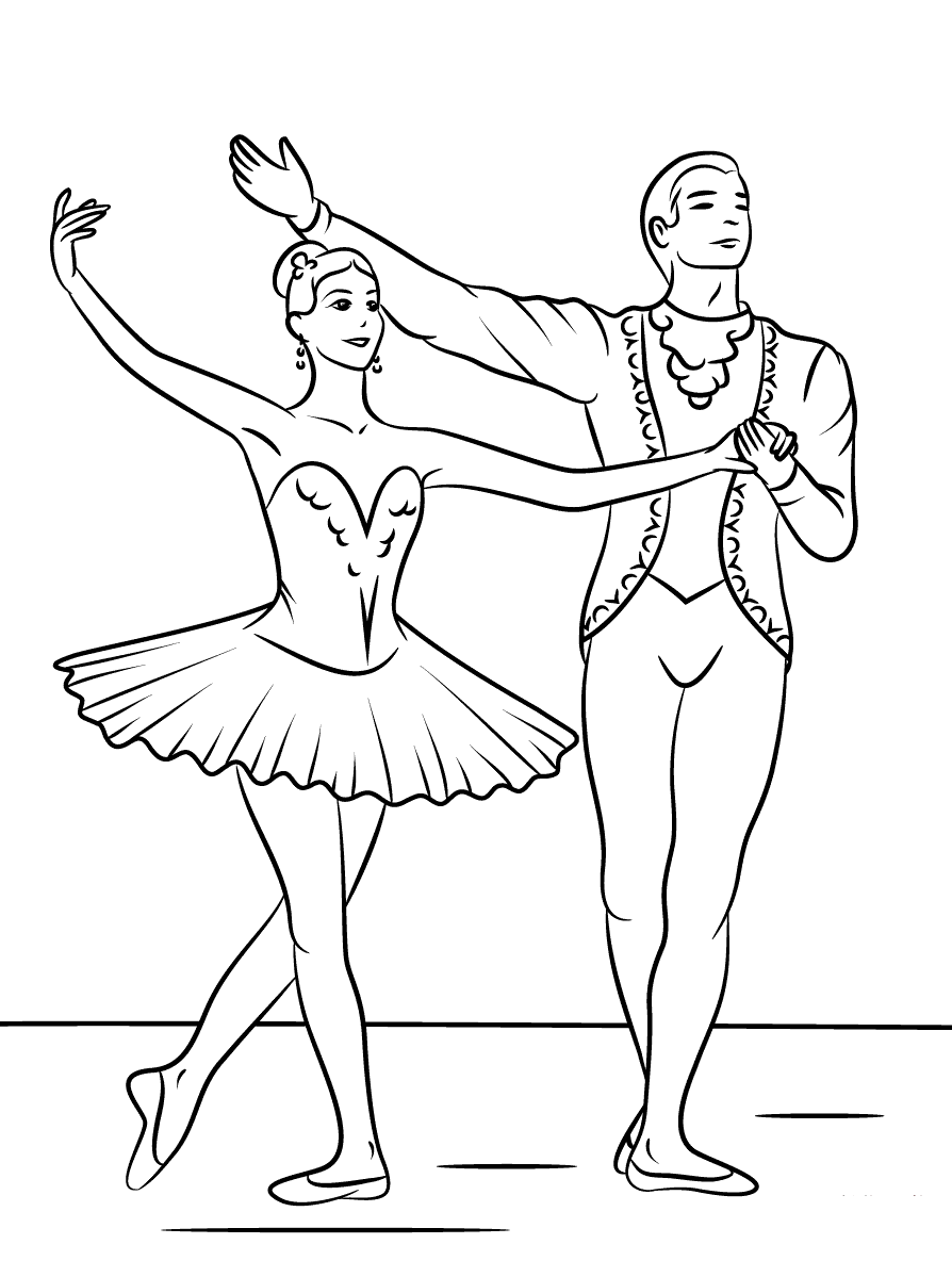 Swan Lake Ballerina Coloring Pages