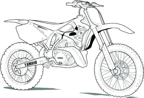 Free Printable Dirt Bike Coloring