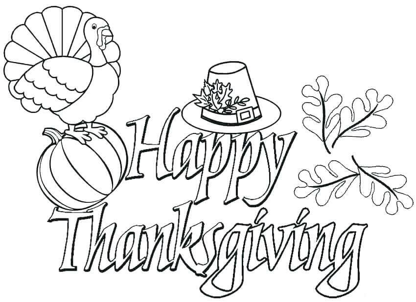 2018 Thanksgiving Coloring Pages