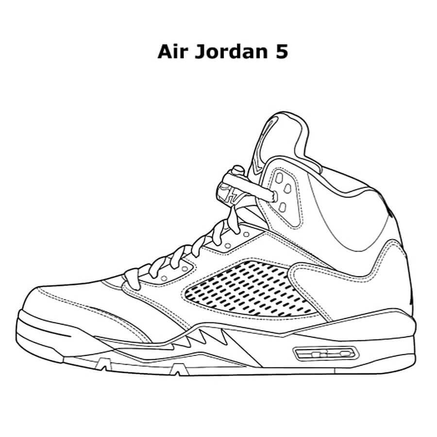 Free Jordan Coloring Pages Printable - Coloring Junction