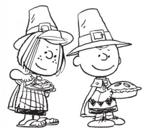 Charlie Brown And Peppermint Patty Thanksgiving Coloring Pictures To Print