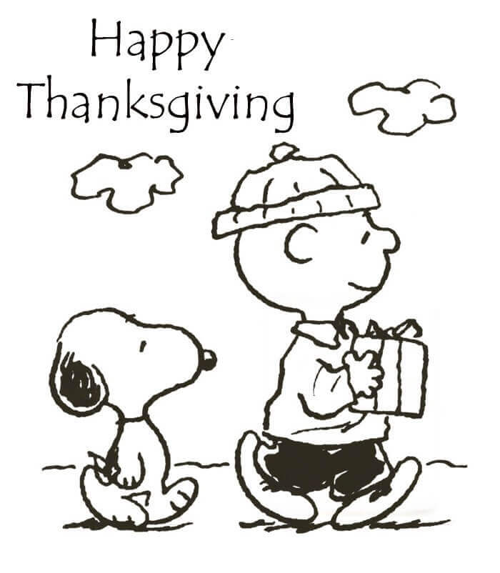 Charlie Brown Thanksgiving Coloring Pages Printable