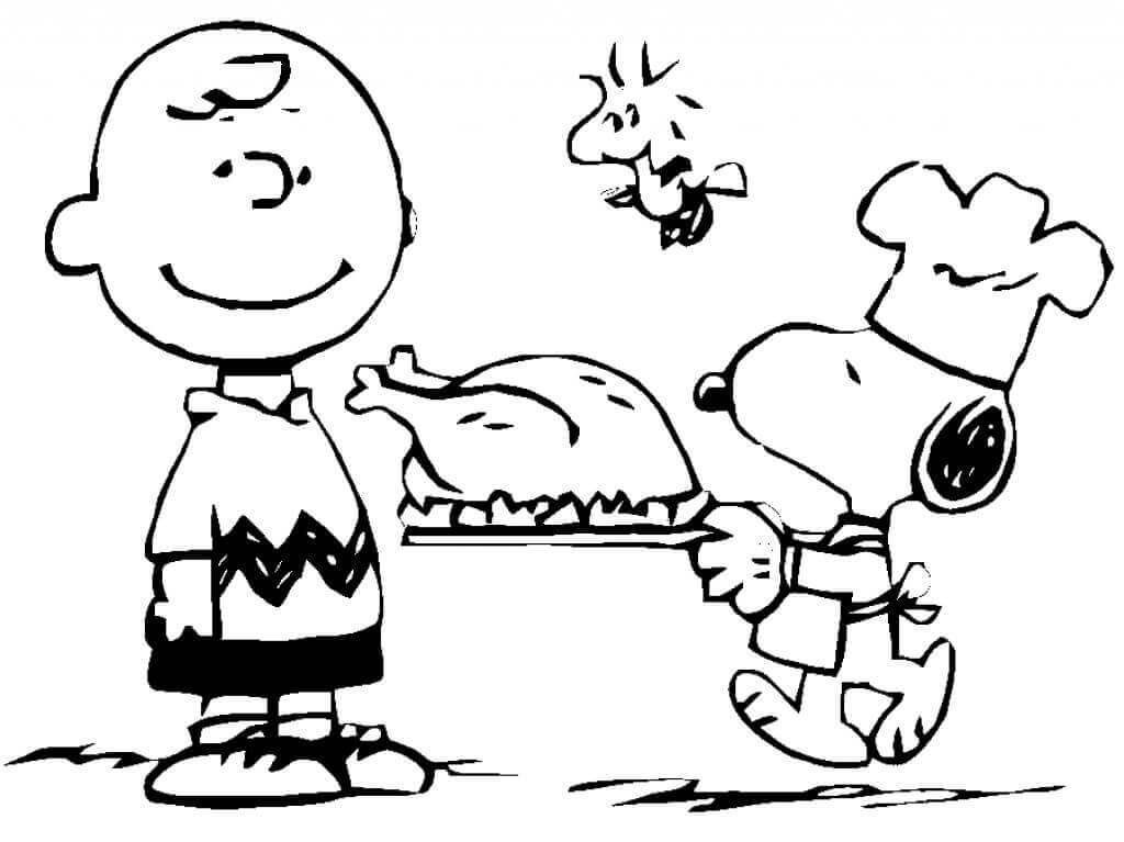 Charlie Brown Thanksgiving Coloring Sheets Free Printable