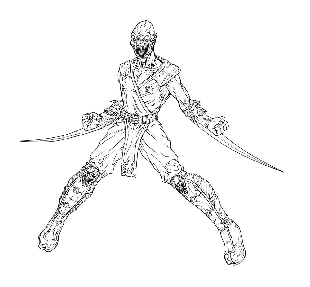 Coloring Pages Of Mortal Kombat Game