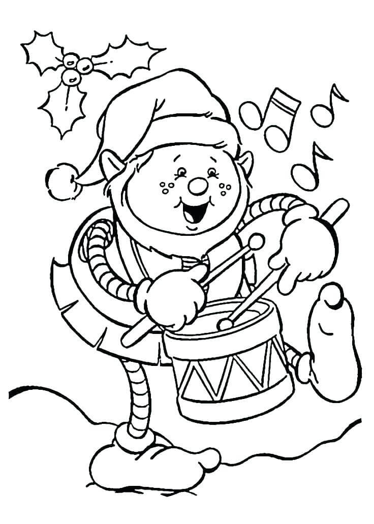 Cute Elf On The Shelf Coloring Page
