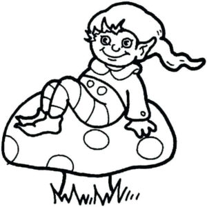 Elf Coloring Pages For Kids