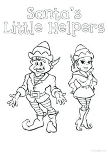 Elf Coloring Pages To Print