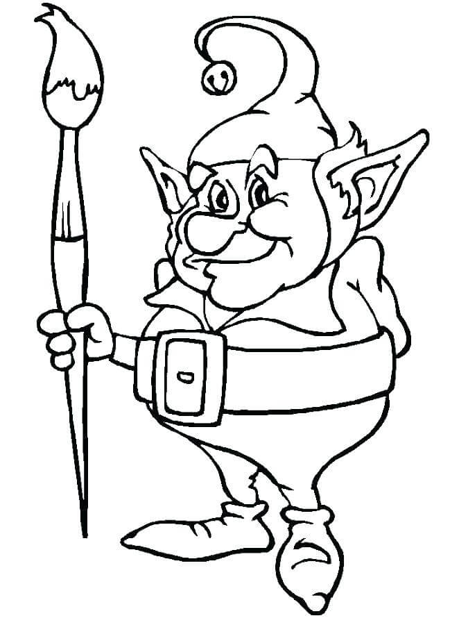 Elf On The Shelf Coloring Images To Print