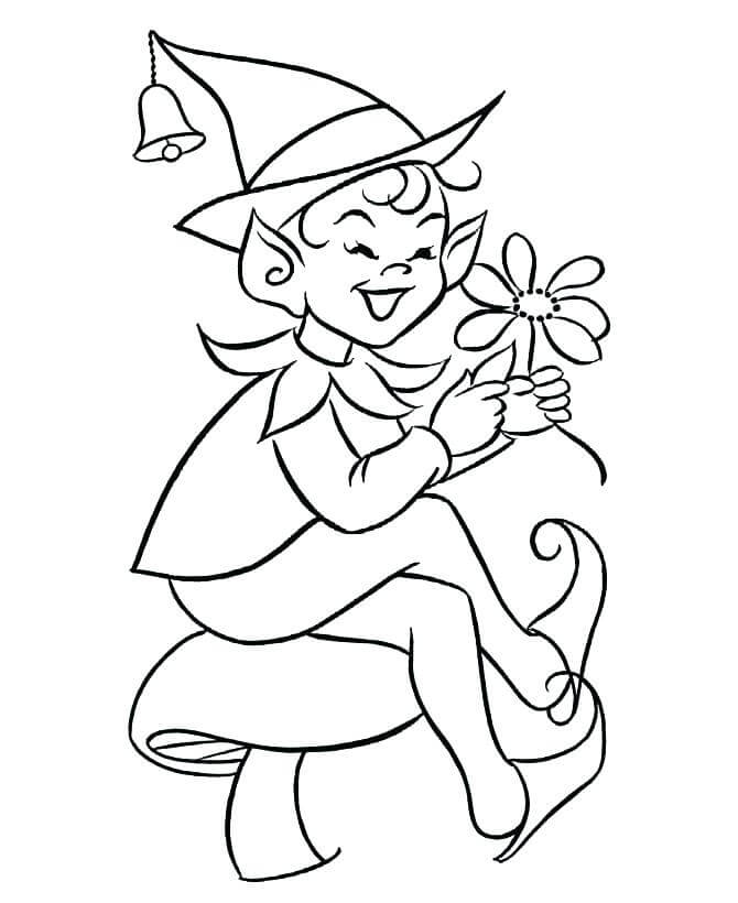 Elf On The Shelf Coloring Pages For Adults