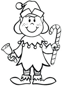 Elf On The Shelf Coloring Pictures To Print