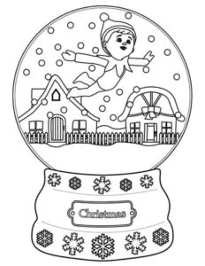 Elf On The Shelf Coloring Sheets To Print