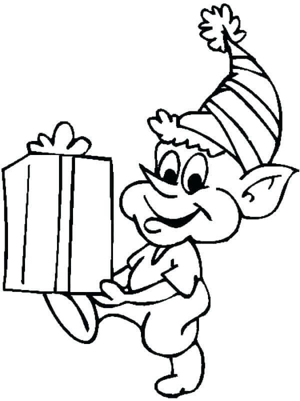 Free Elf On The Shelf Coloring Page