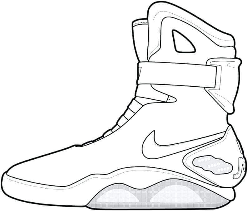 Free Jordan Shoes Coloring Pages Printable