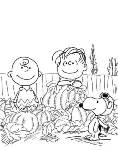 Free Printable Charlie Brown Thanksgiving Coloring Pages