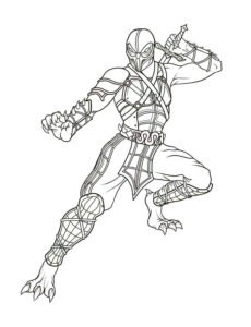 Free Printable Mortal Kombat Coloring Pages Scorpion