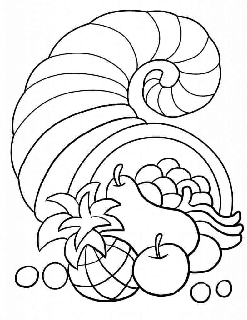 Free Printable Thanksgiving 2018 Coloring Pages