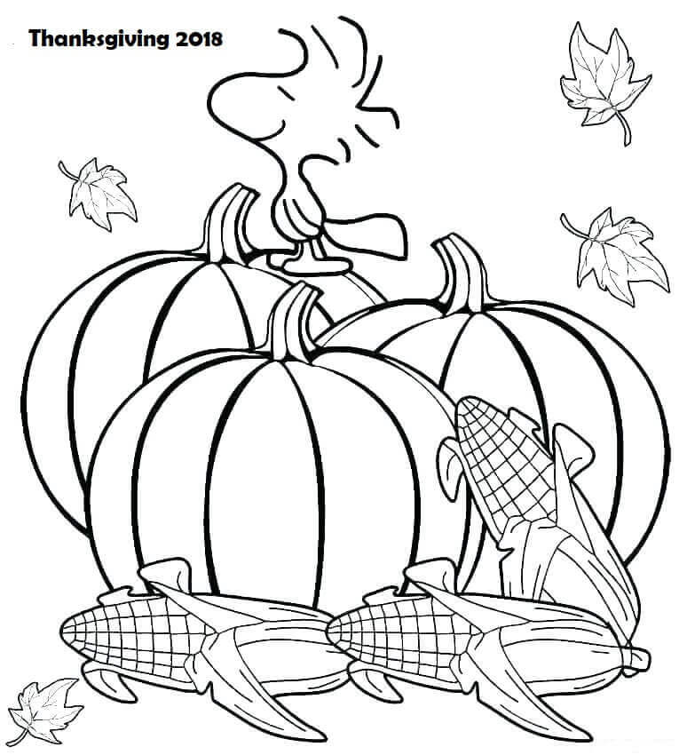 Free Thanksgiving 2018 Coloring Pages Printable
