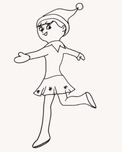 Girl Elf Coloring Pages