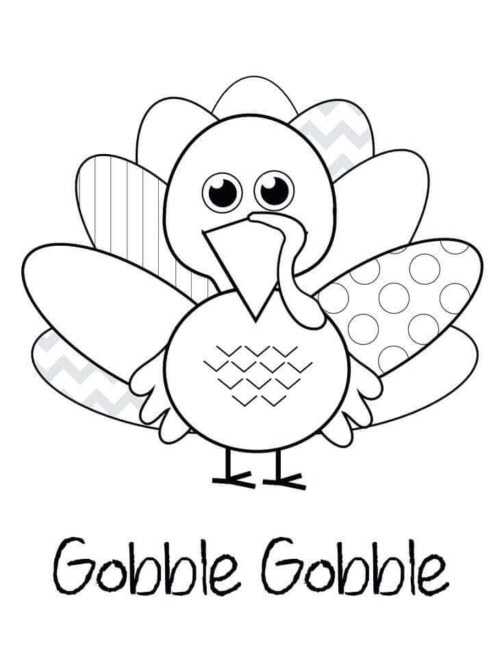 Gobble Gobble Coloring Pages