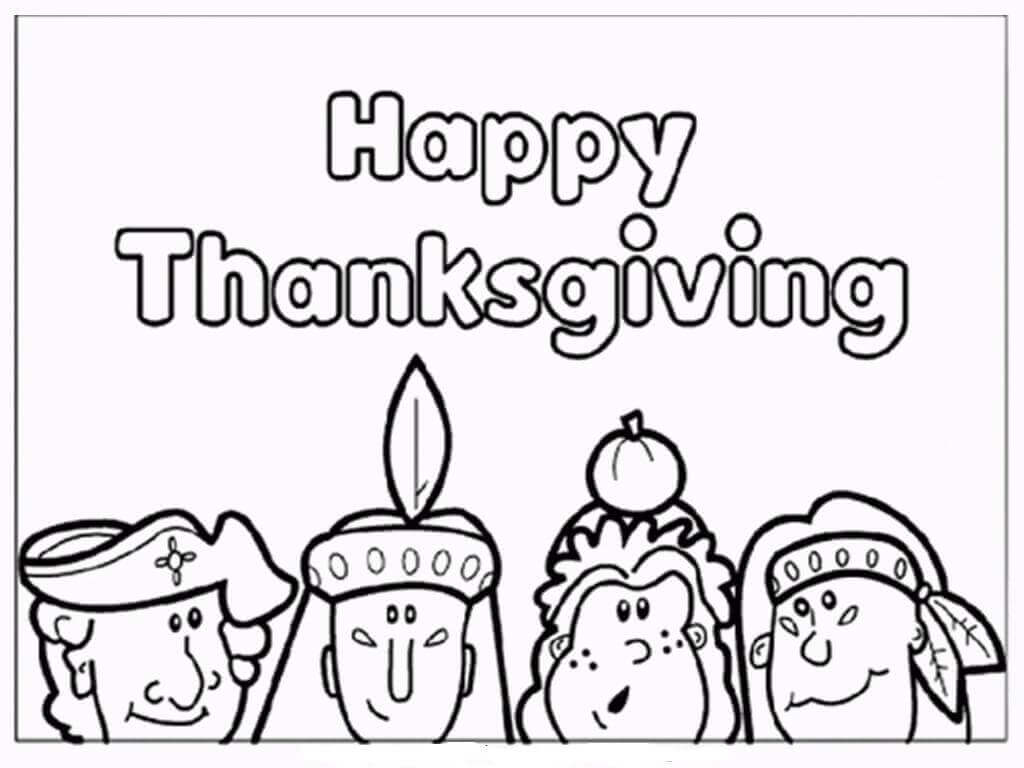 Happy Thanksgiving 2018 Coloring Pages