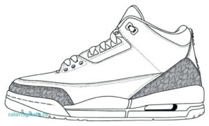 Jordan Shoes Coloring Pictures To Print