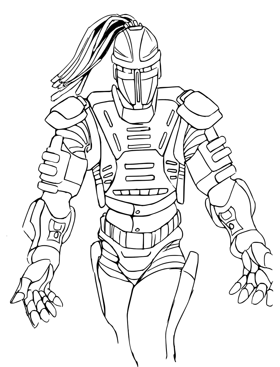 Mortal Kombat Coloring Pages Free